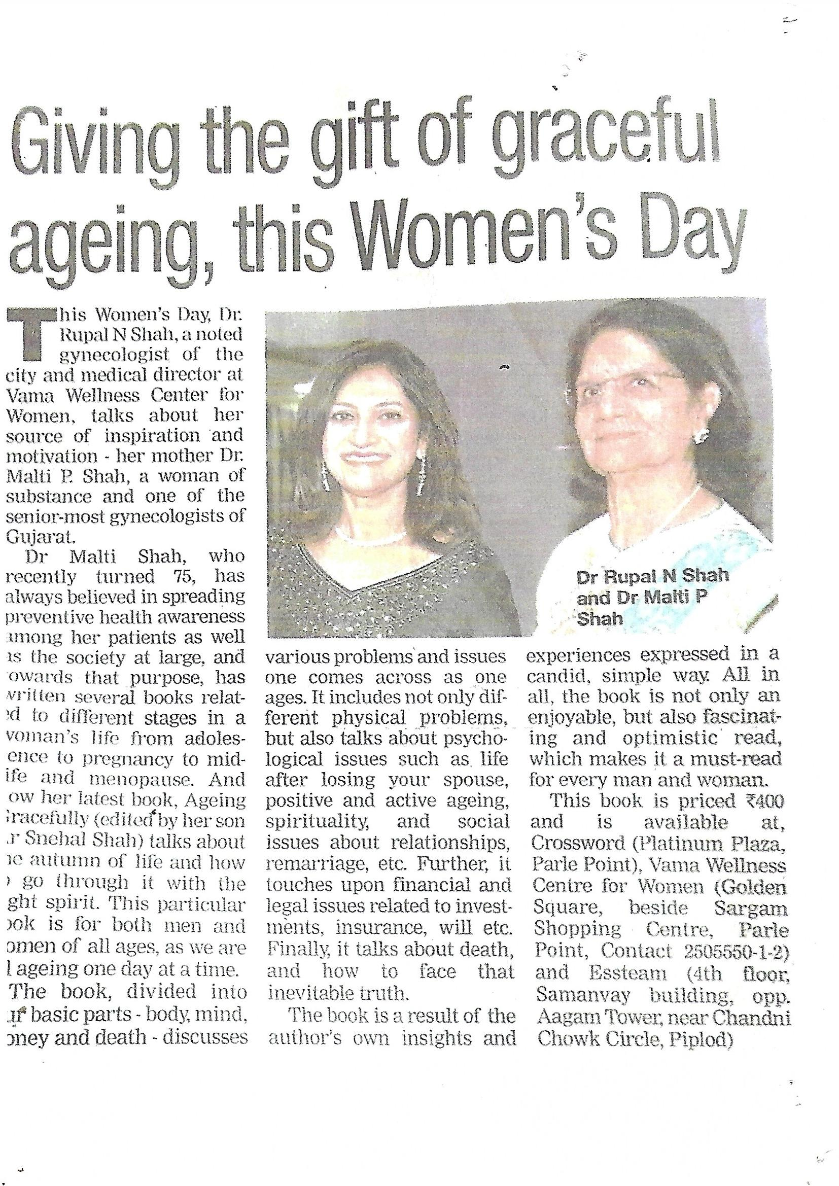 Giving the Gift of Graceful Ageing , This Women's Day.